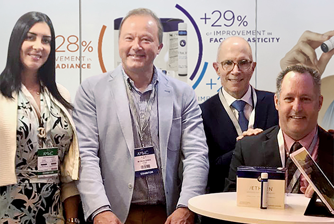 Aminah Aboud, AETHERN® United Kingdom, Olivier Zonza, AETHERN® Europe, Mark J. Tager, MD, ChangeWell Inc. CEO and Paul T. Vella, AETHERN® USA @ AMWC 2019